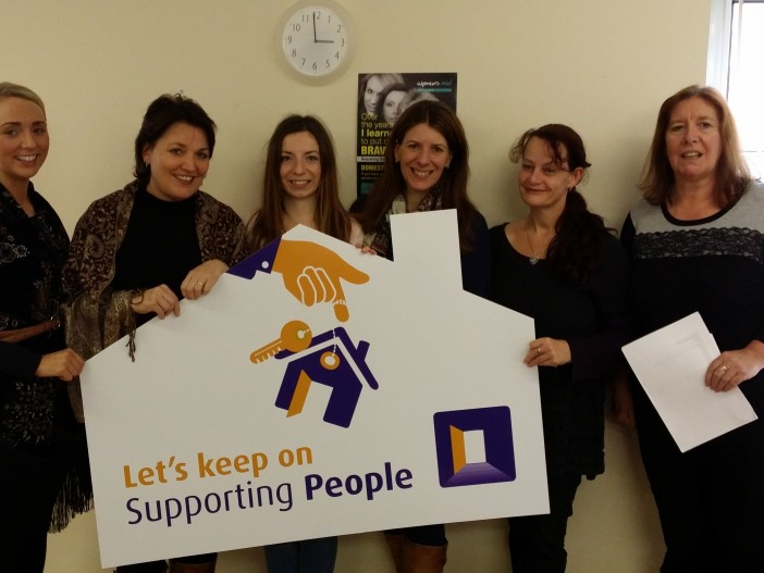 Staff from our South Belfast Refuge supporting the campaign