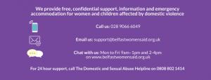 Belfast and Lisburn Women's Aid contact details